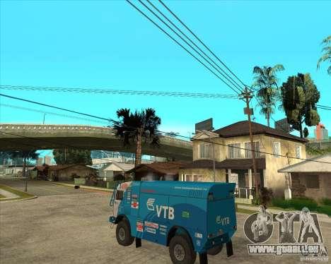 KAMAZ 4911 (2007) Rally Raid version für GTA San Andreas linke Ansicht