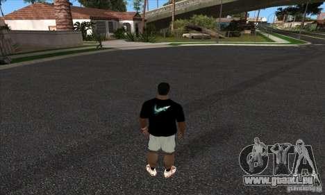 T-Shirt von Nike für GTA San Andreas zweiten Screenshot