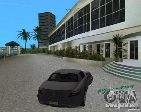 Mercedes Benz SLS AMG pour une vue GTA Vice City de la gauche