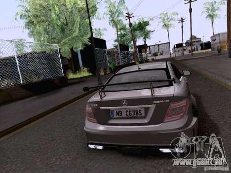 Mercedes-Benz C63 AMG Coupe Black Series pour GTA San Andreas laissé vue