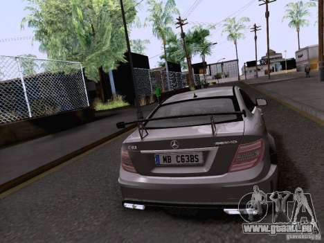 Mercedes-Benz C63 AMG Coupe Black Series für GTA San Andreas linke Ansicht