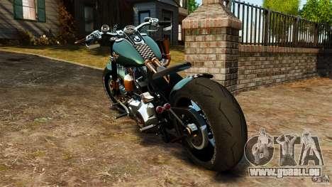 Harley Davidson Fat Boy Lo Racing Bobber für GTA 4 hinten links Ansicht
