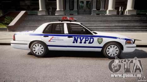 Ford Crown Victoria Police Department 2008 NYPD für GTA 4 linke Ansicht
