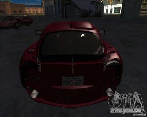 TVR Sagaris pour GTA San Andreas sur la vue arrière gauche