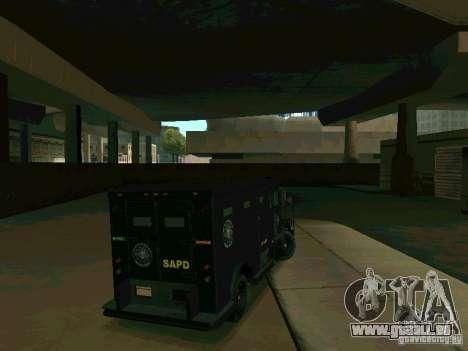 Stokade SAPD SWAT Van für GTA San Andreas rechten Ansicht