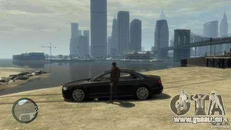 Audi A8 V8 FSI pour GTA 4 est un droit