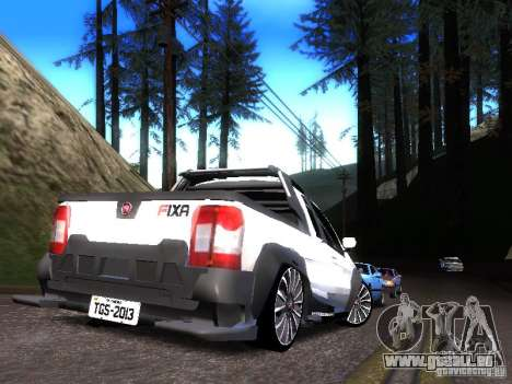 Fiat Strada pour GTA San Andreas sur la vue arrière gauche