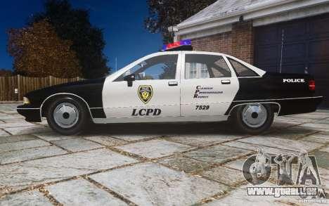 Chevrolet Caprice 1991 Police für GTA 4 linke Ansicht