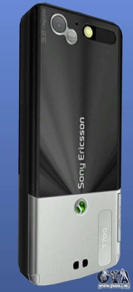 Téléphone mobile Sony Ericsson T700 pour GTA 4 secondes d'écran