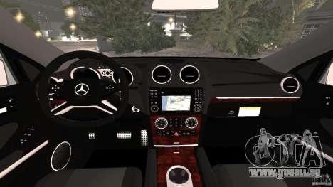 Mercedes-Benz ML63 AMG Brabus pour GTA 4 Vue arrière
