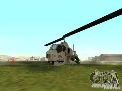 AH-1 Supercobra pour GTA San Andreas laissé vue