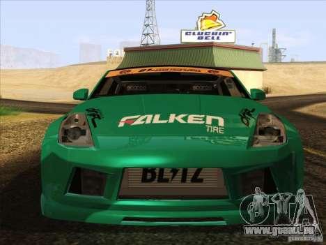 Nissan 350Z Falken Tire pour GTA San Andreas sur la vue arrière gauche