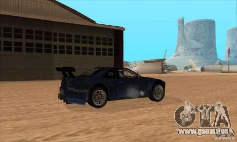Nissan Skyline R34 GT-R LM für GTA San Andreas Seitenansicht