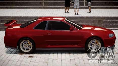 Nissan Skyline GT-R 34 V-Spec pour GTA 4 est une vue de dessous