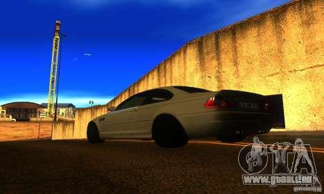 BMW M3 E46 TUNEABLE pour GTA San Andreas laissé vue