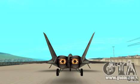 YF-22 Starscream für GTA San Andreas Rückansicht