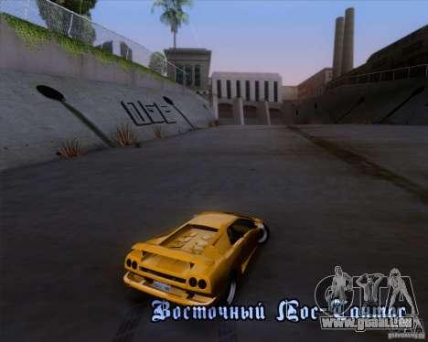 Lamborghini Diablo VTTT Black Revel pour GTA San Andreas vue de côté