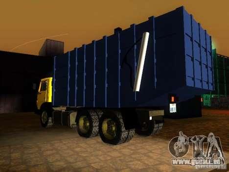 Camion à ordures 53212 KAMAZ pour GTA San Andreas laissé vue
