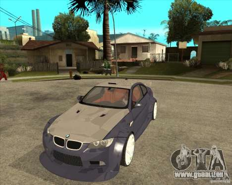 BMW M3 E92 TUNED für GTA San Andreas