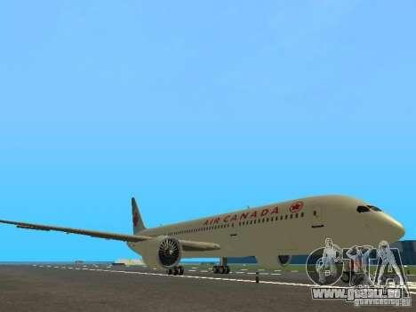 Boeing 787 Dreamliner Air Canada für GTA San Andreas linke Ansicht