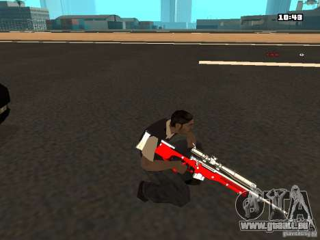 White Red Gun für GTA San Andreas