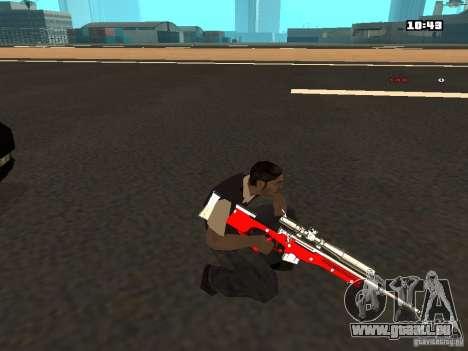 White Red Gun pour GTA San Andreas