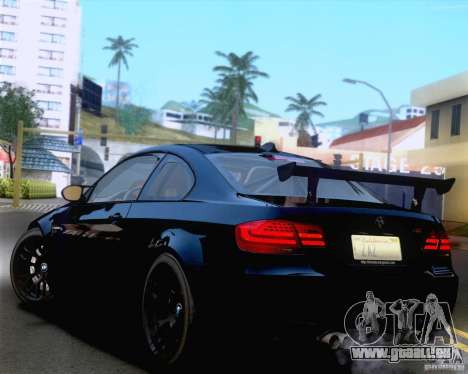 BMW M3 GT-S 2011 pour GTA San Andreas vue de côté