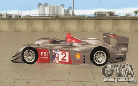 Audi R10 LeMans - Stock für GTA San Andreas linke Ansicht