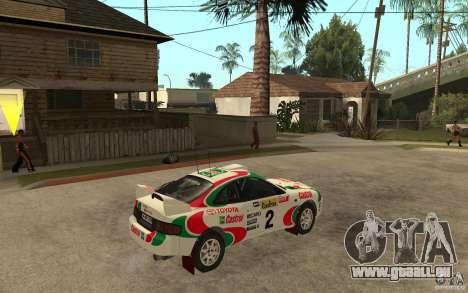Toyota Celica GT4 DiRT für GTA San Andreas rechten Ansicht