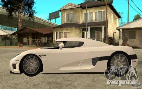 Koenigsegg CCX - Stock pour GTA San Andreas laissé vue