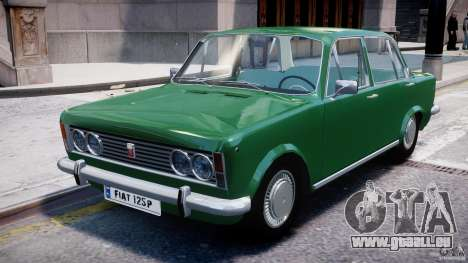 Fiat 125p Polski 1970 pour GTA 4 est une gauche