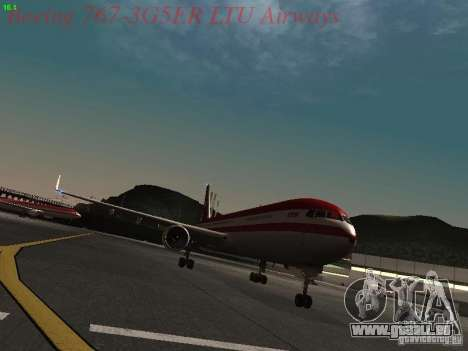 Boeing 767-3G5ER LTU Airways für GTA San Andreas linke Ansicht