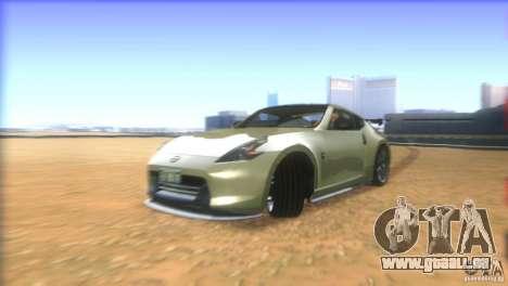 Nissan 370Z Drift 2009 V1.0 pour GTA San Andreas vue de dessus