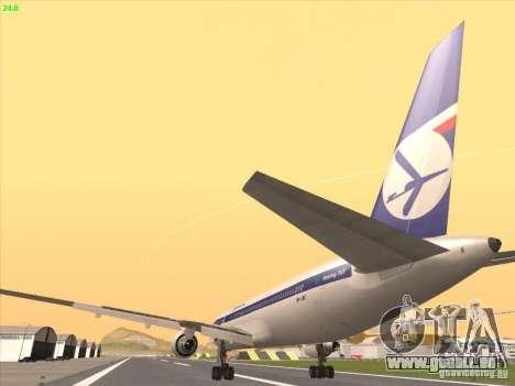 Boeing 767-300 LOT Polish Airlines pour GTA San Andreas vue intérieure