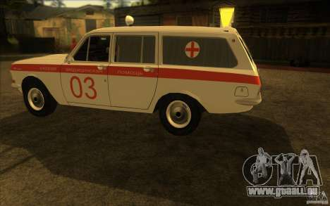 Ambulance Volga GAZ-24 03 pour GTA San Andreas sur la vue arrière gauche