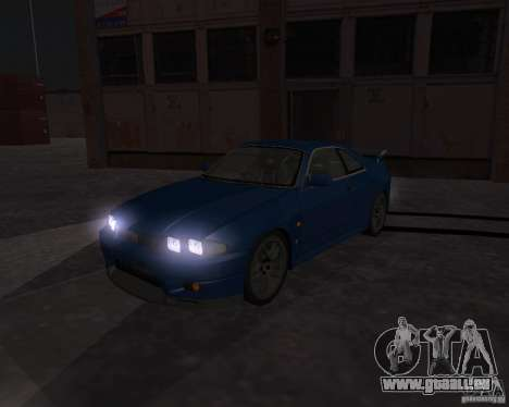 Nissan Skyline GT-R R-33 für GTA San Andreas Innenansicht
