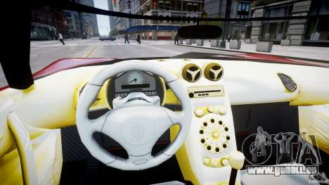 Koenigsegg CCRT pour GTA 4 Vue arrière