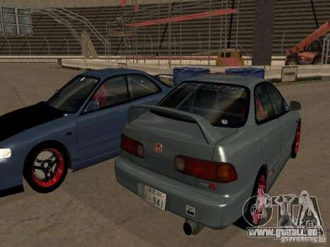 Honda Integra TypeR pour GTA San Andreas laissé vue
