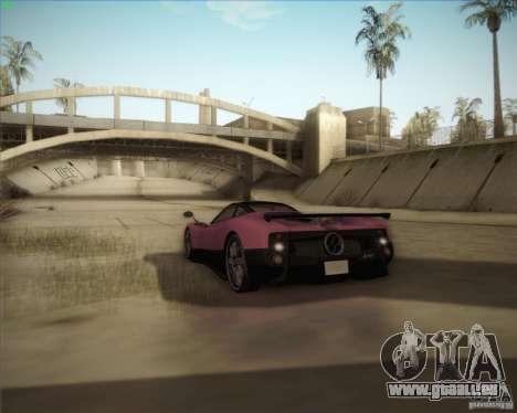 Pagani Zonda F V1.0 pour GTA San Andreas vue de dessous