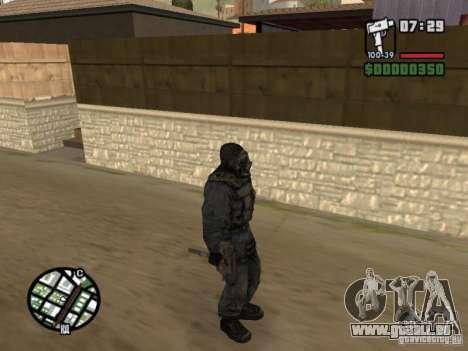 Mercenaire de STALKER en masque pour GTA San Andreas quatrième écran