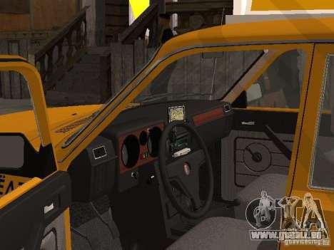 Volga GAZ 31029 Taxi für GTA San Andreas zurück linke Ansicht