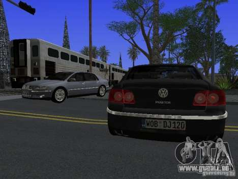 Volkswagen Phaeton W12 pour GTA San Andreas vue de dessus