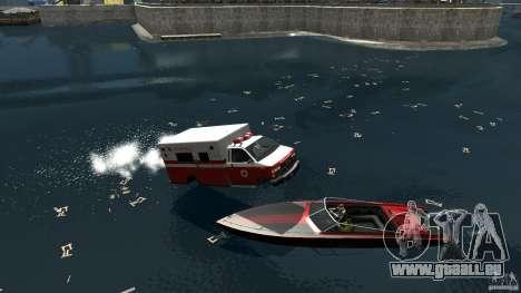 Ambulance boat für GTA 4 rechte Ansicht