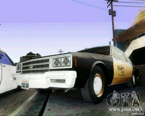 Chevrolet Impala 1986 Taxi Cab pour GTA San Andreas vue de droite