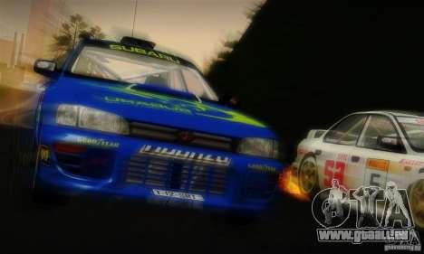 Subaru Impreza 1995 World Rally ChampionShip für GTA San Andreas Unteransicht