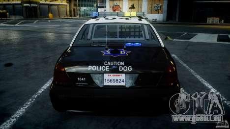 Ford Crown Victoria SFPD K9 Unit [ELS] pour le moteur de GTA 4