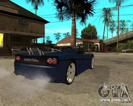 Ferrari F50 - special tuning by JvtDeSiGn pour GTA San Andreas sur la vue arrière gauche