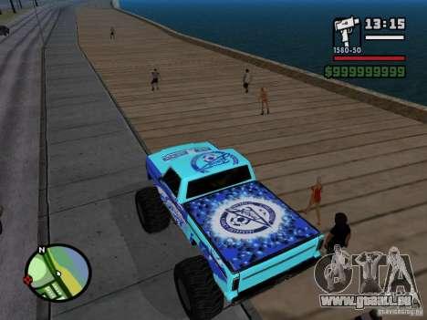 Un monstre dans le style de FC ZENIT pour GTA San Andreas sur la vue arrière gauche