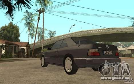 Mercedes-Benz 320CE C124 pour GTA San Andreas sur la vue arrière gauche