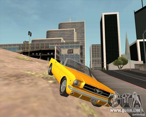Ford Mustang 289 1964 pour GTA San Andreas vue intérieure